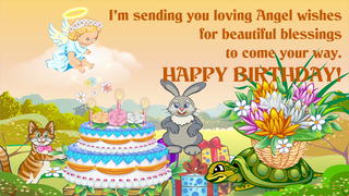 transcript: I'm sending you loving Angel wishes for beautiful blessings to come your way. 