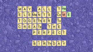 transcript: The Periodic Birthday Table