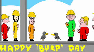 transcript: Happy 'burp' day