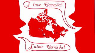 transcript: I love Canada J'aime Canada!