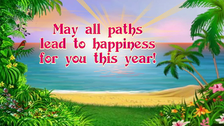 transcript: Wishing you a day touched with all the wonder and magic of life! May all paths lead to happiness for you this year! Have a wonderful Birthday!