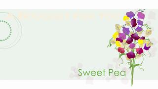 transcript: A bouquet for you Blissful Pleasure Happy Birthday Sweet Pea