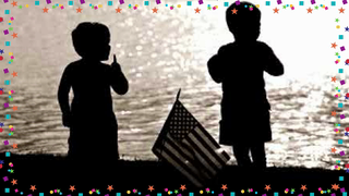 transcript: It's your birhtday America Here's to you and yours on America's Birthday Wishing you a very  Happy July 4th