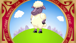 transcript: Year of the Sheep Sheep are Loving Elegant  and are talented artists They always like to look their best. and enjoy the finer things in life. Have a Happy (and luxurious) Birthday