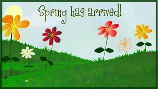 transcript: Spring has arrived! At last Happy Birthday!