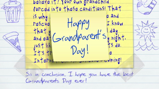 transcript: Happy Grandparent's Day!