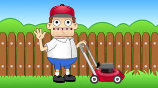 transcript: Voice:  Oh Hi! Happy Labor Day! I'm just.. mowing the lawn, here on Labor Day, when I should be relaxing and all... You know what? I'm done! It's Labor Day, and I'm not gonna Labour any more! Ten minutes later... ''It's Labor Day, and I'm not gonna Labor any more!'' Ten more minutes later... ''It's Labor Day, and I'm not gonna Labor any more!''  Text:  Whatever you're doing right now... Stop it! Relax and take it easy. You deserve it!