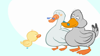 transcript: For those of you who don't speak duck...