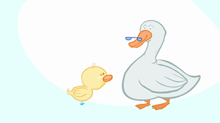 transcript: For those of you who don't speak duck... You're the greatest grandparent I could ever wish for! I love you very, very, very, very, very much! Happy Birthday  from your little duckling!