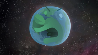 transcript: This year, the Earth got really depressed because no on remembered it was Earth Day...  Voice:  Hi....hi! It's Earth Day! Phrrrrhh! Nobody cares! You, people! I'm the Earth!  You think an Earth like me comes around every billion years!? Pfffahh!  hey man, haven't you had enough? Brrrhhh! I'll tell you when you have!  I think he may be right! Shut up, Saturn!   Text:  Don't forget about Earth Day. (April 22)
