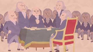 transcript: Voice:  July 4th, 1776 During the second Continental Congress in Philadelphia,  delegates from all thirteen colonies, including two future presidents (George Washington-John Adams) convened for what many historians consider to be the most defining moment in US history. The declaration of Independence.  It should also be noted that since it ocurred in July, in a small un-air conditioned room, filled with men wearing wool suits and padded wigs, many historians also consider this the sweatiest moment, in American history.   Text:  Have a cool 4th of July!