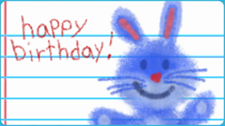 transcript: Vivian age 5 Advice! I know some people have been getting on your nerves lately. Try not to take it personally. Remember, what they say and do, is not about you! It's all about them! U r terrific! and deserve to have a fantastic birthday. So happy Birthday!