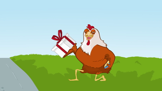 transcript: Why did the chicken cross the road?