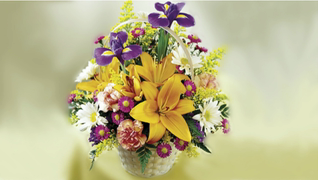 transcript: Flower Bouquet for a Corporate Birthday.