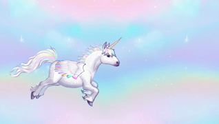 transcript: May your birthday be sweeter than a unicorn farting rainbows!