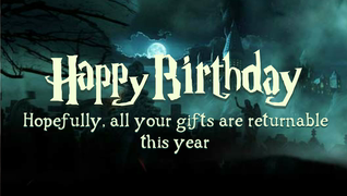 transcript: I got you a 'Hairy Potter' 