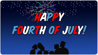transcript: What's the best way to celebrate the 4th of July? With the people you love!  Happy Fourth of July!