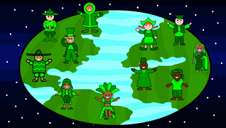 transcript: On St. Pat's Day everyone is Irish!