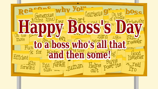 Holidays boss day cards ideal for friends and family transcript reasons why youre a great boss happy bosss day to a boss m4hsunfo