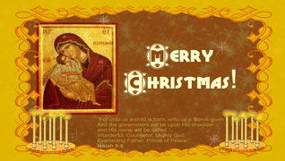 transcript: May the blessings of the Holy Nativity bring divine Peace to your home and Family throughout the coming year.  Merry Christmas!
