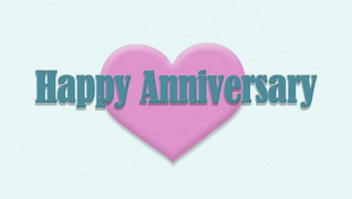 transcript: Song:  Happy Anniversary Happy that its you and me so happy that we're sharing a new year of us together, right here.... Happy Anniversary! It's crazy how it seems to me, I can't remember what my life was like before we both were man and wife... And though we had our ups and downs and even a few tears and frowns, I never thought for one moment our love together wouldn't grow more strong Happy Anniversary I can't believe how easily the years pass by for you and me, let's hope they last until eternity Happy Anniversary So happy that its you and me both sharing our new anniversary