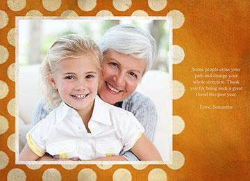 transcript: Photo card template