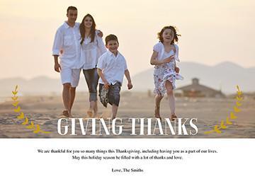 transcript: Giving thanks