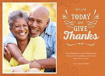 Today We Give Thanks