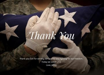 Veteran's Day - Thank you